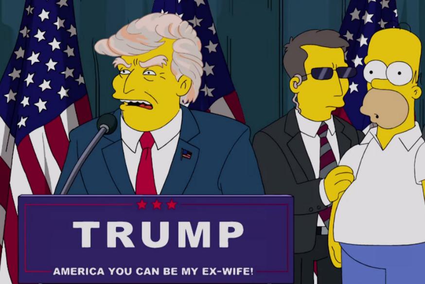 Los Simpsons predicen la presidencia de Trump