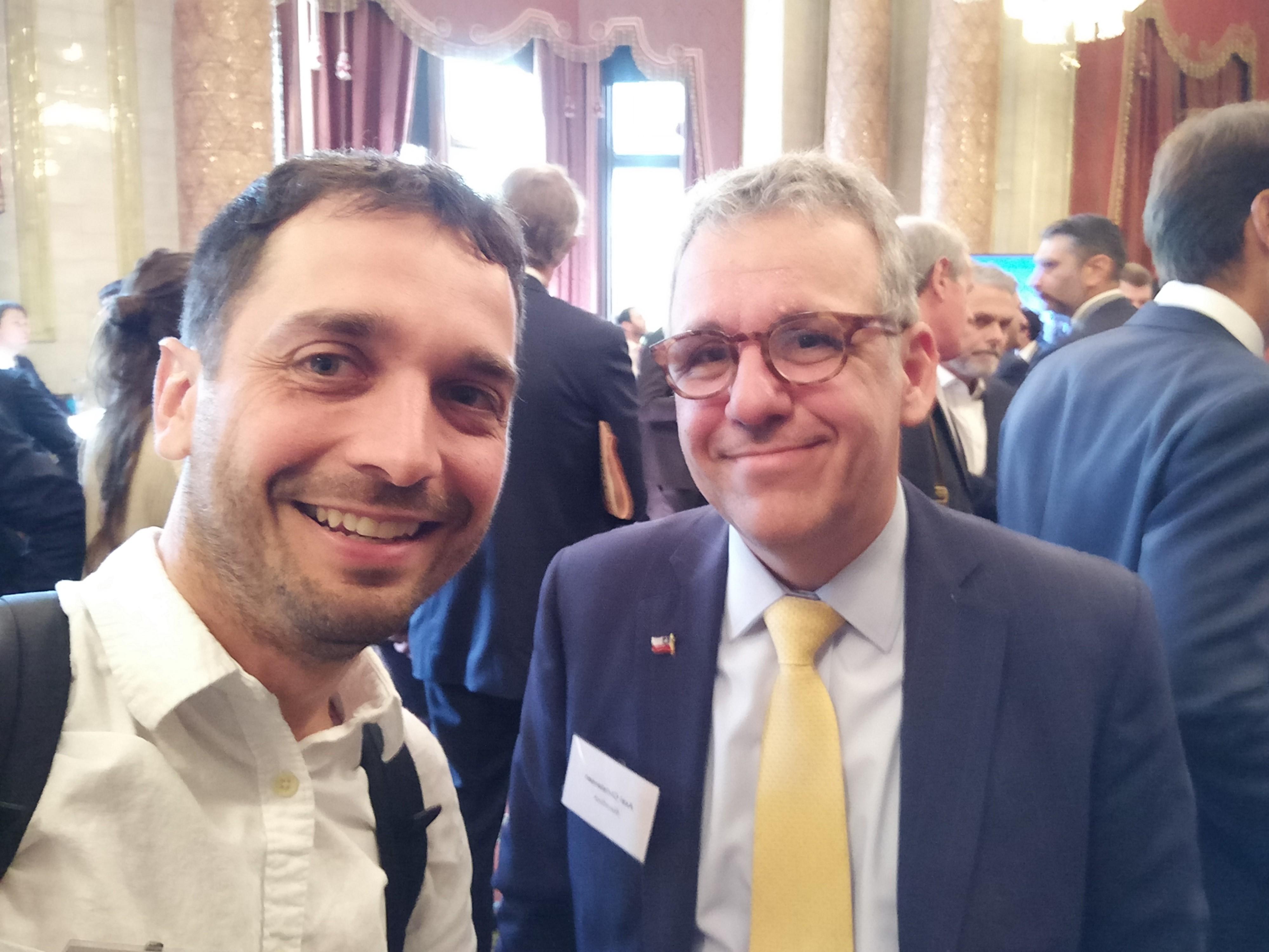 Axel Christensen y yo en Chile Day Londres 2018